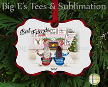 Load image into Gallery viewer, Ornament ~ Personalized Best Friends Ornament