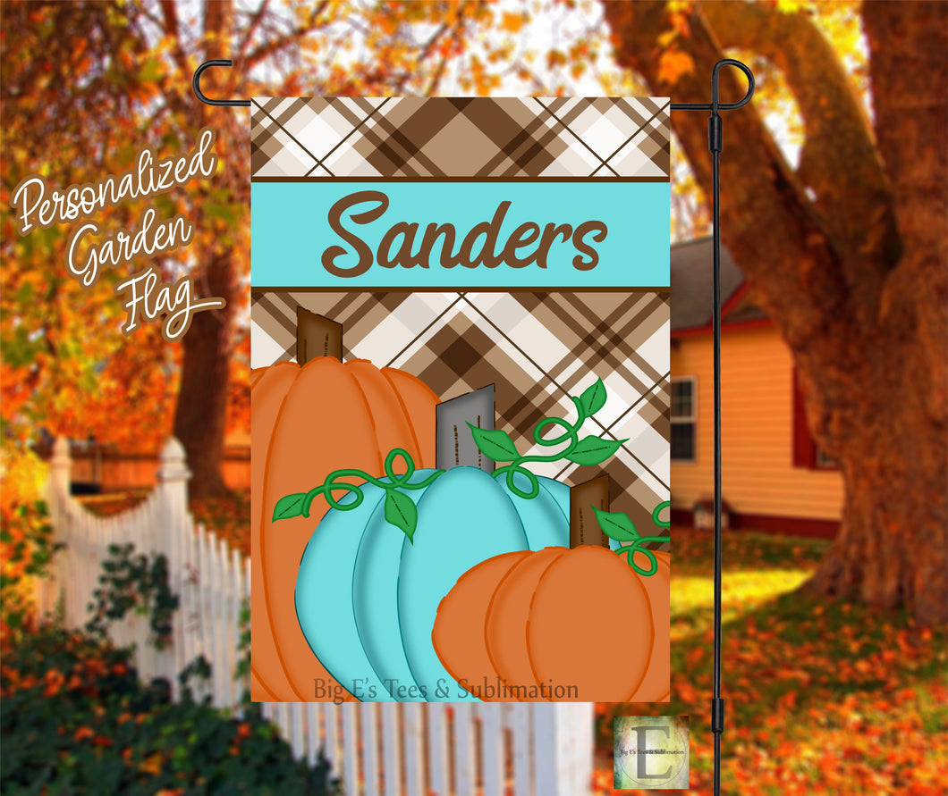 Fall Personalized Garden Flag