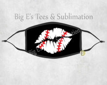 Load image into Gallery viewer, Face Mask ~ Baseball Lips