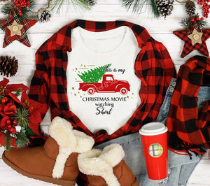 Christmas Movie Watching Unisex Short Sleeve Tee