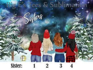 Ornament ~ Personalized Sisters Ornament
