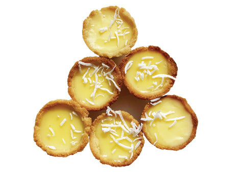 Keto Lemon Coconut Tarts