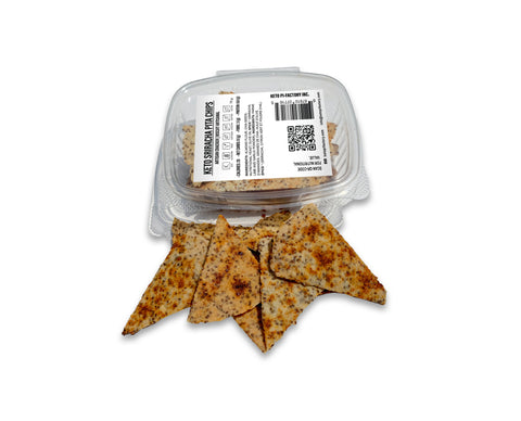 Keto Sriracha- Lime - Garlic Pita Chips