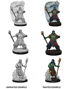 DUNGEONS AND DRAGONS: NOLZUR'S MARVELOUS UNPAINTED MINIATURES -W5-MALE WATERGENASI DRUID