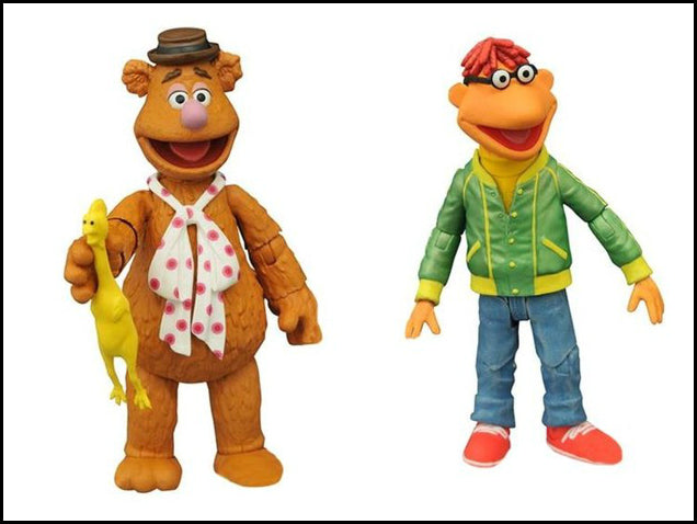 MUPPETS SELECT ACTION FIGURE FOZZIE & SCOOTER