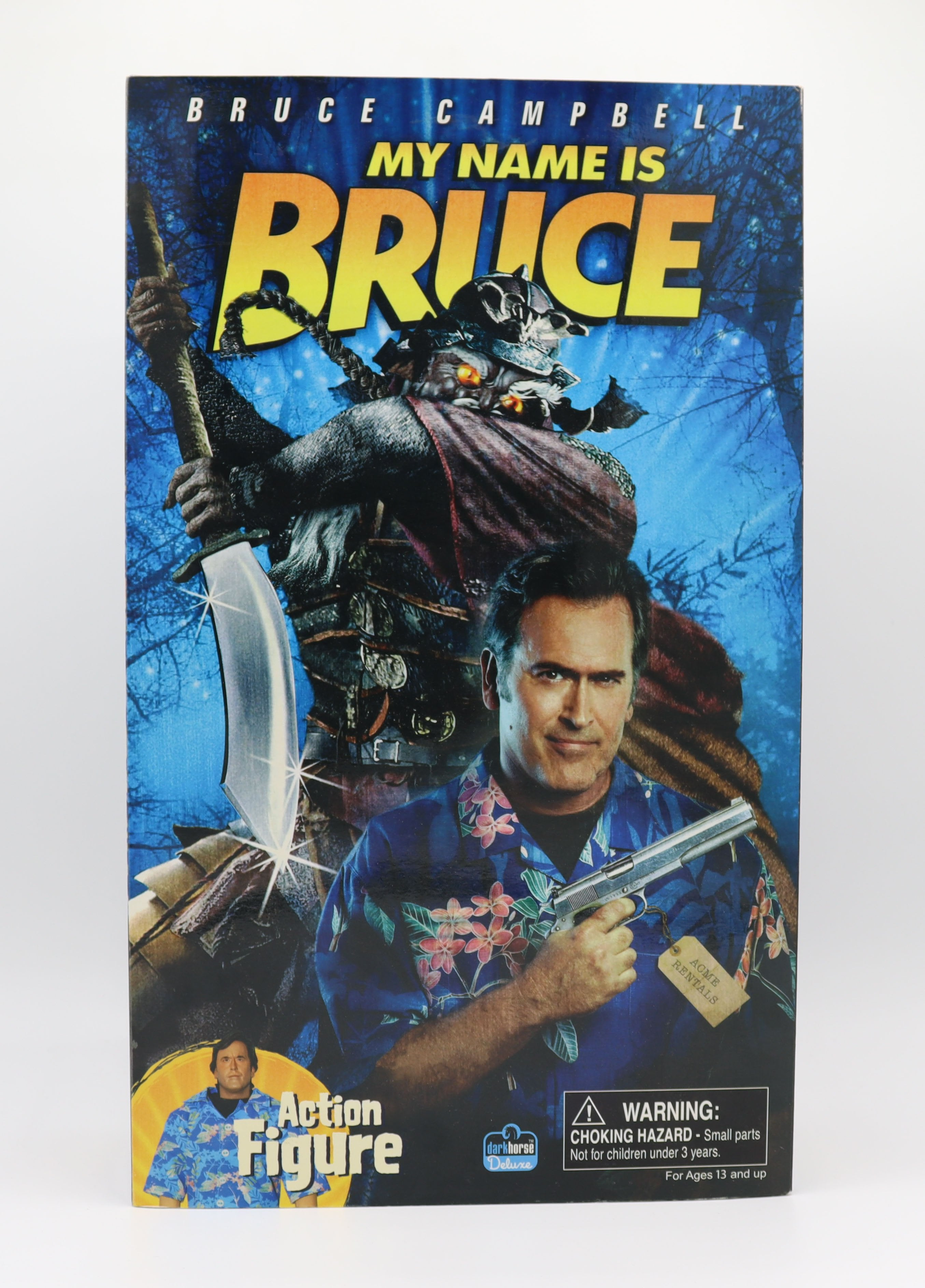 "BRUCE CAMPBELL MY NAME IS BRUCE 12"" ACTION FIGURE"
