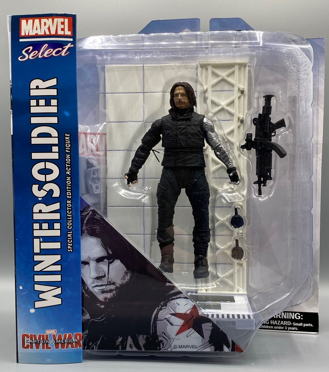 MARVEL SELECT CIVIL WAR MOVIE WINTER SOLDIER ACTION FIGURE