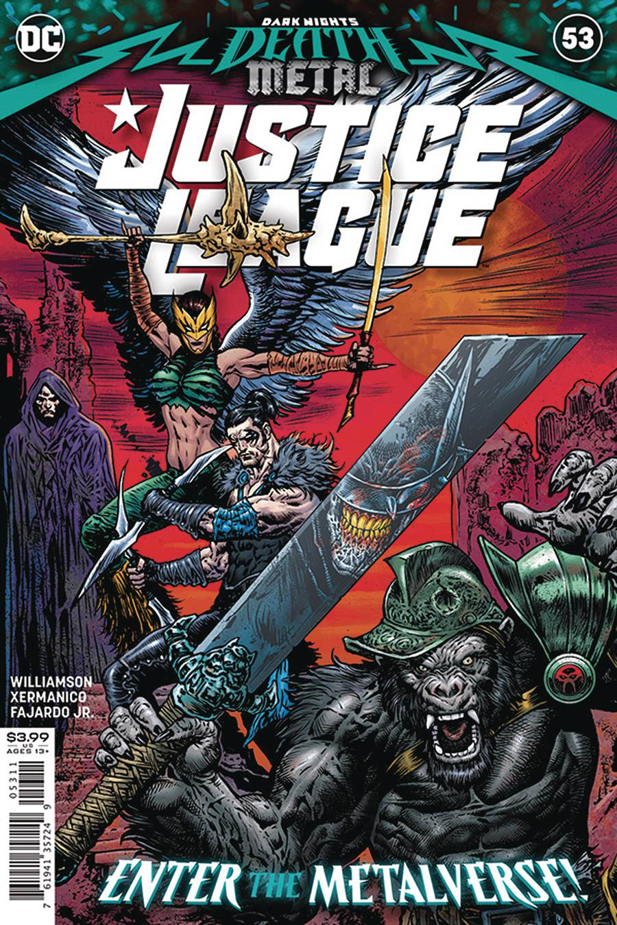 DF JUSTICE LEAGUE #53 COVER A SHARP SGN  PRE-ORDER