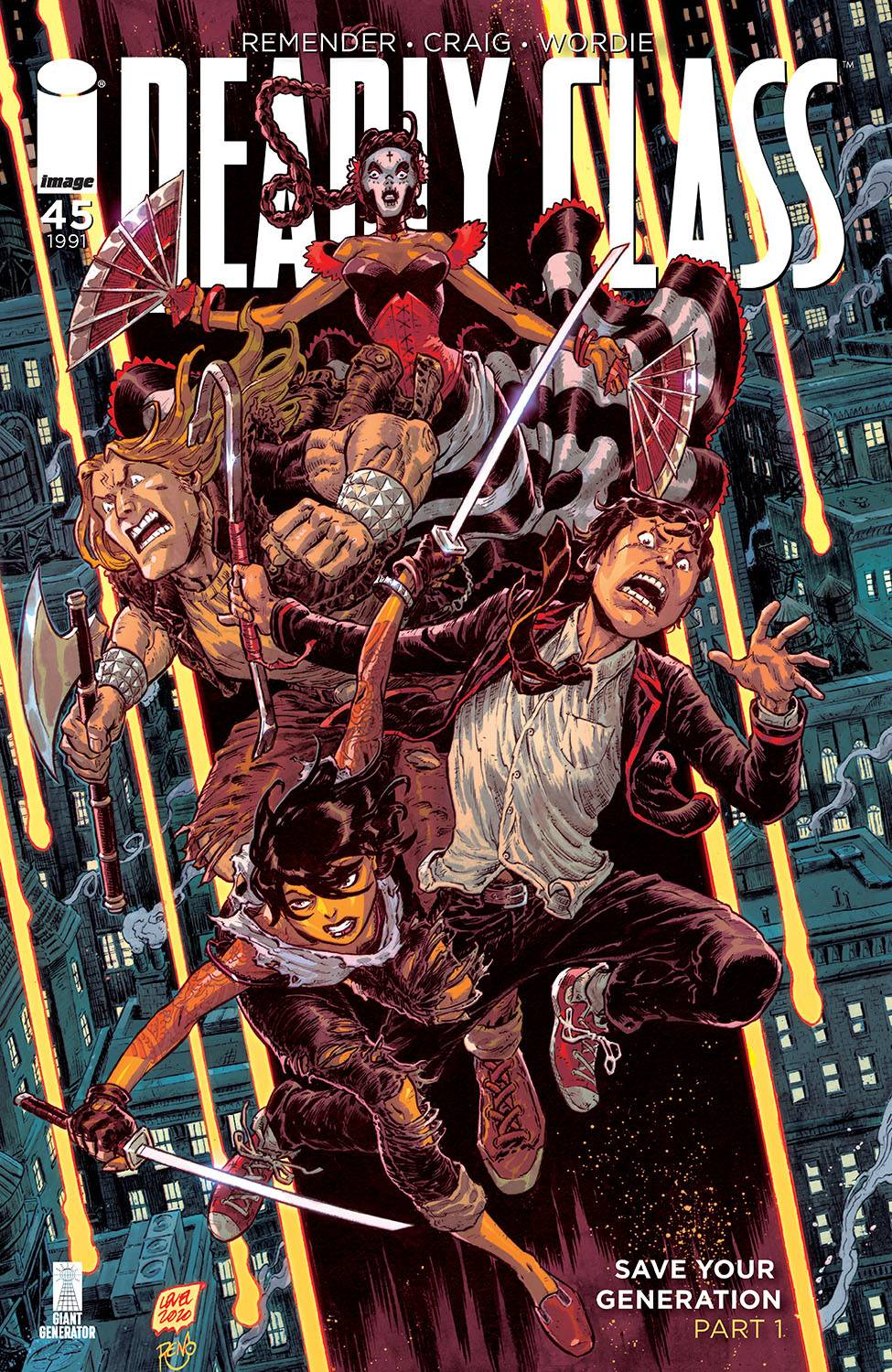 DEADLY CLASS #45 CVR B LEVEL & DINISIO PRE-ORDER