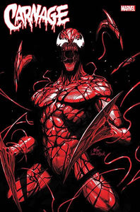 DF CARNAGE BLACK WHITE & BLOOD #1 LEE VAR CATES SGN PRE-ORDER