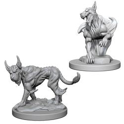 DUNGEONS AND DRAGONS: NOLZUR'S MARVELOUS UNPAINTED MINIATURES -W1-BLINK DOGS