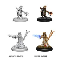 DUNGEONS AND DRAGONS: NOLZUR'S MARVELOUS UNPAINTED MINIATURES -W6-FEMALE GNOME WIZARD