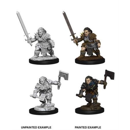 PATHFINDER: DEEP CUTS UNPAINTED MINIATURES -W8-FEMALE DWARF BARBARIAN