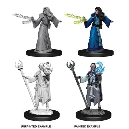 DUNGEONS AND DRAGONS: NOLZUR'S MARVELOUS UNPAINTED MINIATURES -W9-MALE ELF WIZARD