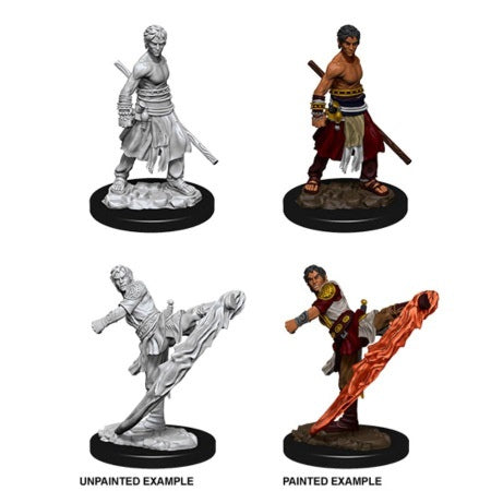 DUNGEONS AND DRAGONS: NOLZUR'S MARVELOUS UNPAINTED MINIATURES -W10-MALE HALFELF MONK