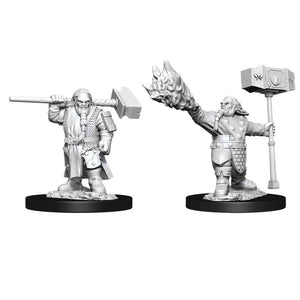 DUNGEONS AND DRAGONS: NOLZUR'S MARVELOUS UNPAINTED MINIATURES -W11-MALE DWARF CLERIC
