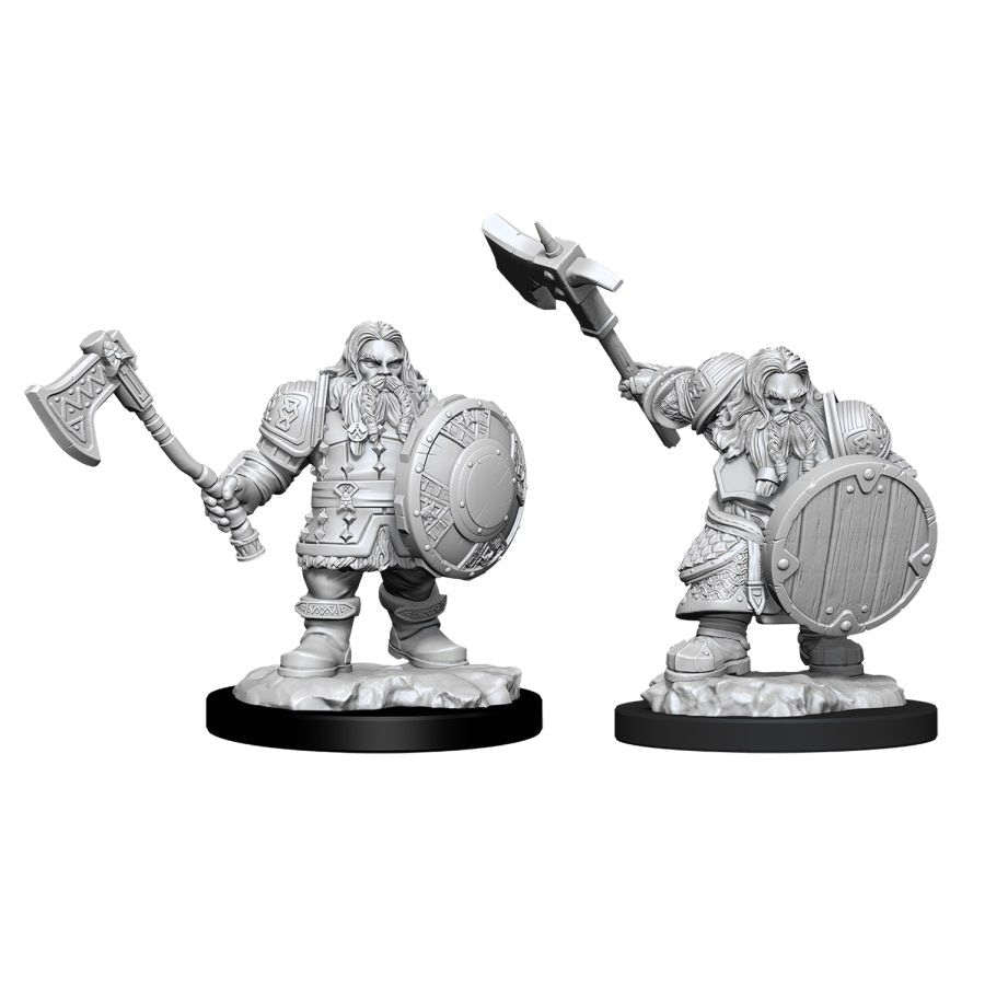 DUNGEONS AND DRAGONS: NOLZUR'S MARVELOUS UNPAINTED MINIATURES -W11-MALE DWARF FIGHTER