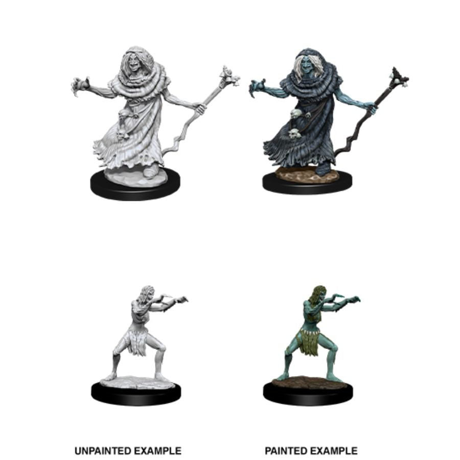 DUNGEONS AND DRAGONS: NOLZUR'S MARVELOUS UNPAINTED MINIATURES: W12 SEA HAG AND BHEUR HAG