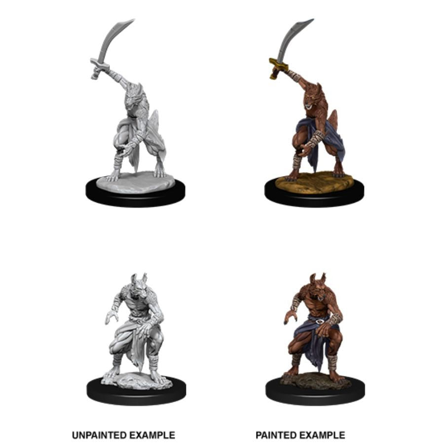 DUNGEONS AND DRAGONS: NOLZUR'S MARVELOUS UNPAINTED MINIATURES: W12 JACKALWERE