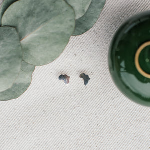 Minimal Range • Africa Earrings - Stokedthebrand. Lifestyle products for outdoor adventures. Made in South Africa