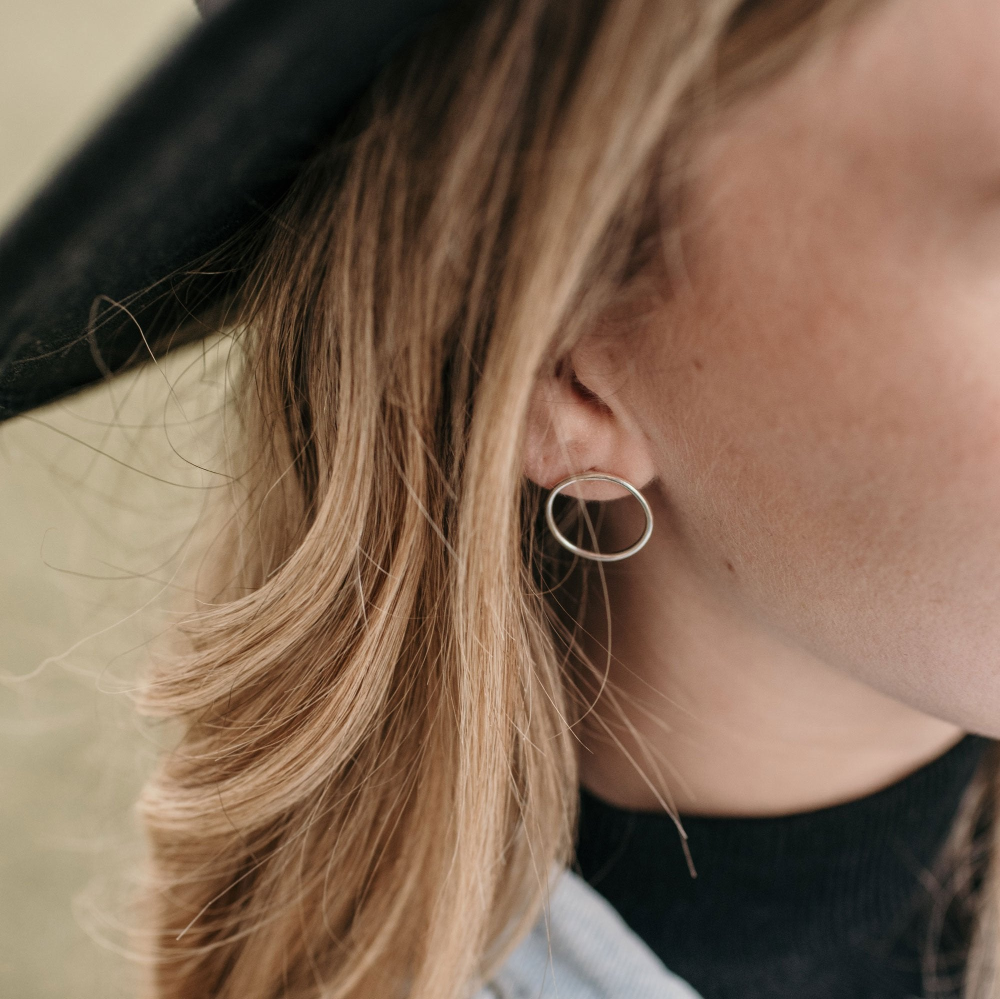 Minimal Range • Big Round Earrings - Stokedthebrand. Lifestyle products for outdoor adventures. Made in South Africa