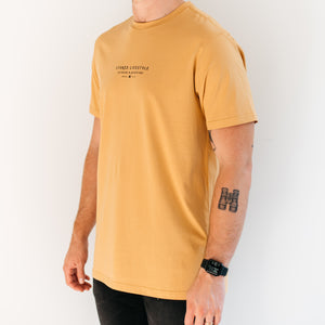 Mustard Explore T-Shirt - Stokedthebrand. Lifestyle products for outdoor adventures. Made in South Africa