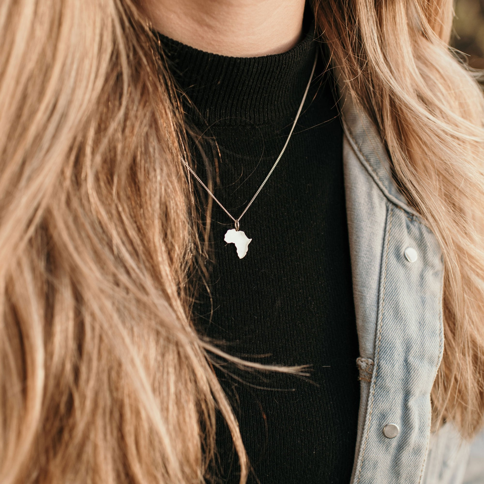 Silver Africa Pendant Necklace - Stokedthebrand. Lifestyle products for outdoor adventures. Made in South Africa