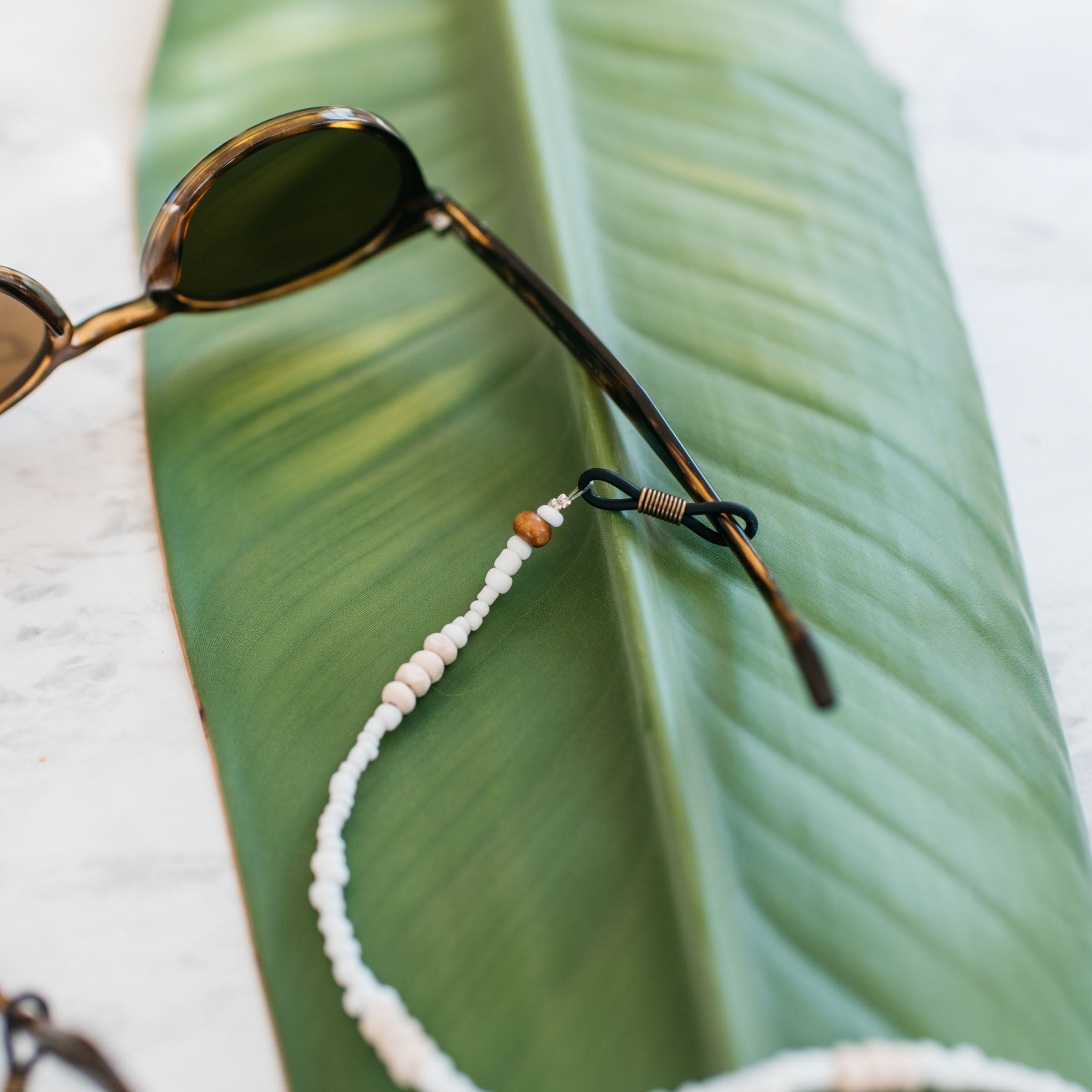 Sunglasses Strap/Cord • Pearl Beads + Wood - Stokedthebrand. Lifestyle products for outdoor adventures. Made in South Africa