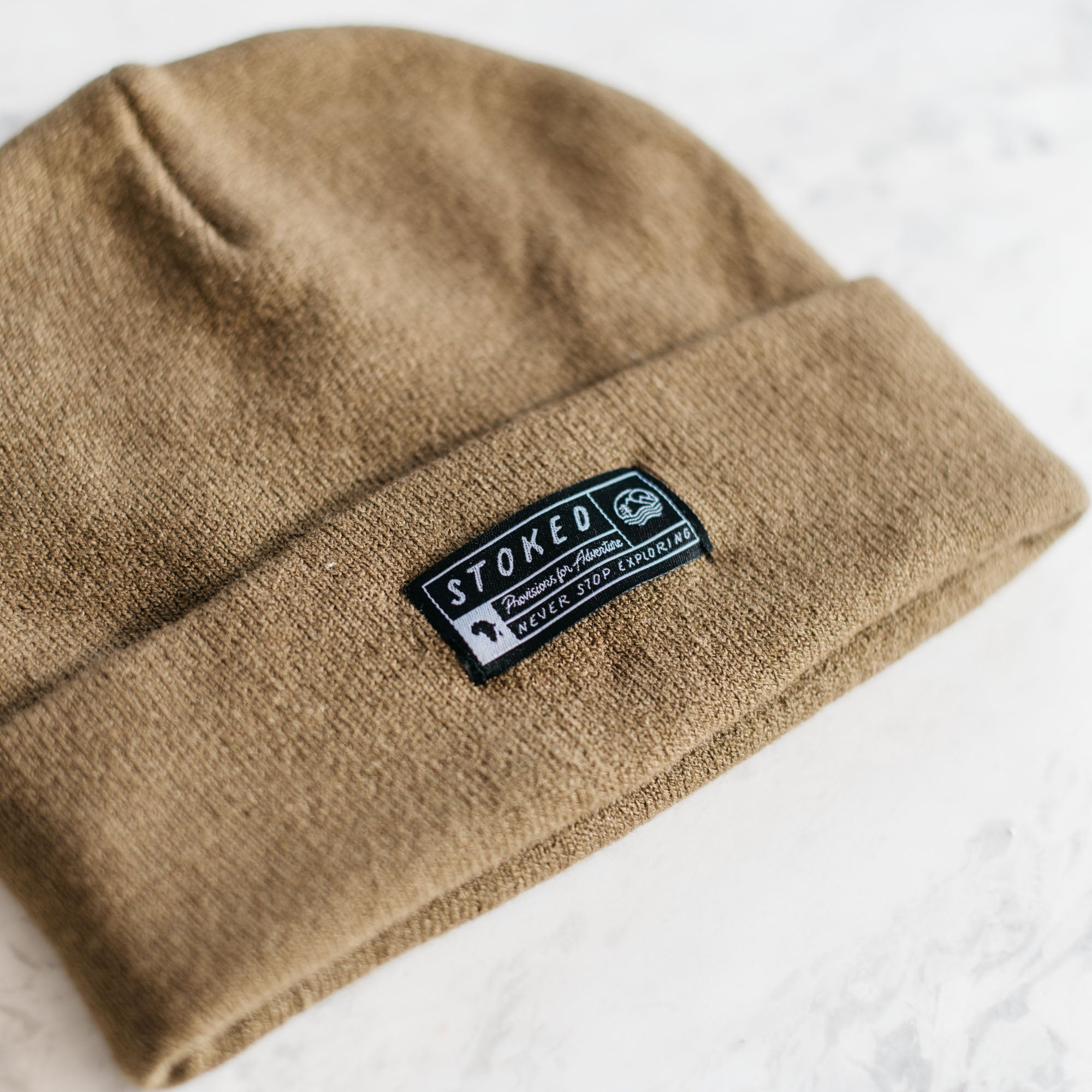 The Khaki Dessert Beanie - Stokedthebrand. Lifestyle products for outdoor adventures. Made in South Africa