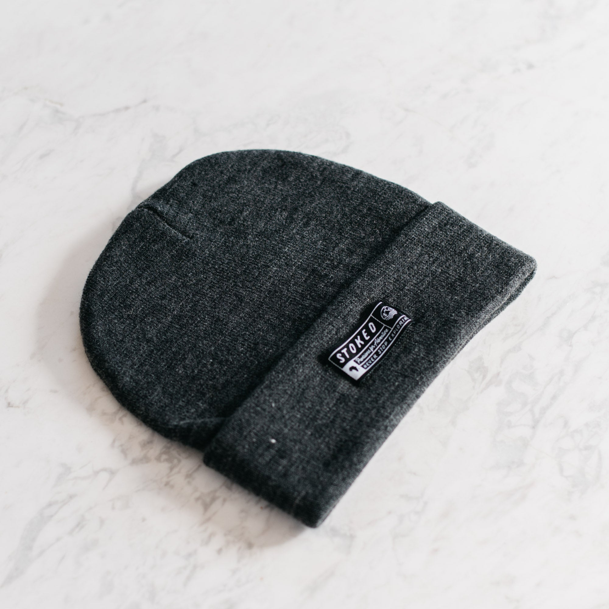 The Dusk Charcoal Beanie - Stokedthebrand. Lifestyle products for outdoor adventures. Made in South Africa