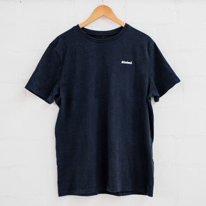 Stoked Minimal Navy T-Shirt - Stokedthebrand. Lifestyle products for outdoor adventures. Made in South Africa