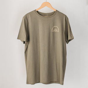 Olive Explore T-Shirt - Stokedthebrand. Lifestyle products for outdoor adventures. Made in South Africa