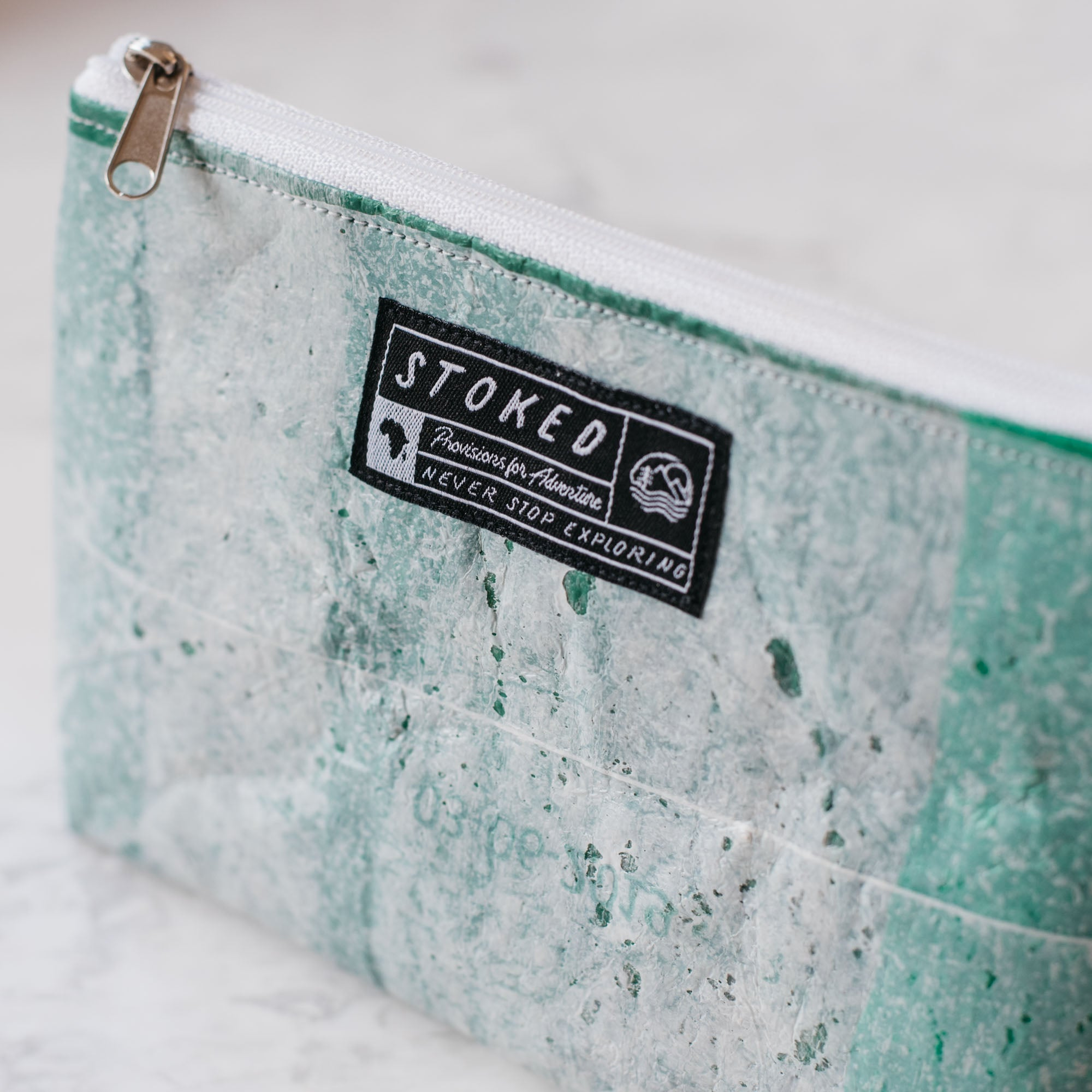 Upcycled Pouch (Medium) • Field Green - Stokedthebrand. Lifestyle products for outdoor adventures. Made in South Africa