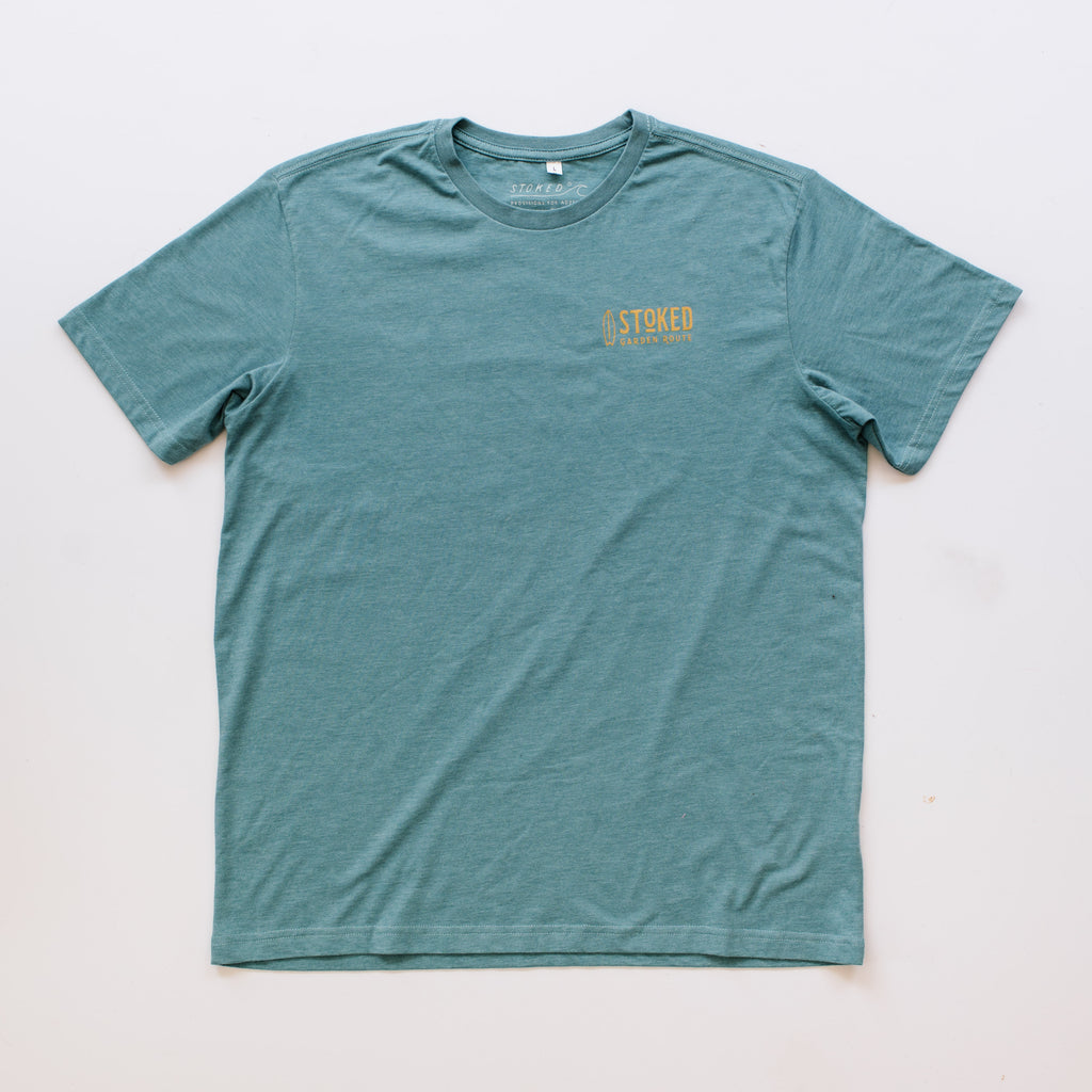 Teal Surf Haven T-Shirt - Stokedthebrand. Lifestyle products for outdoor adventures. Made in South Africa