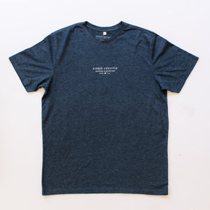 Dusk Navy Minimal Lifestyle T-Shirt - Stokedthebrand. Lifestyle products for outdoor adventures. Made in South Africa