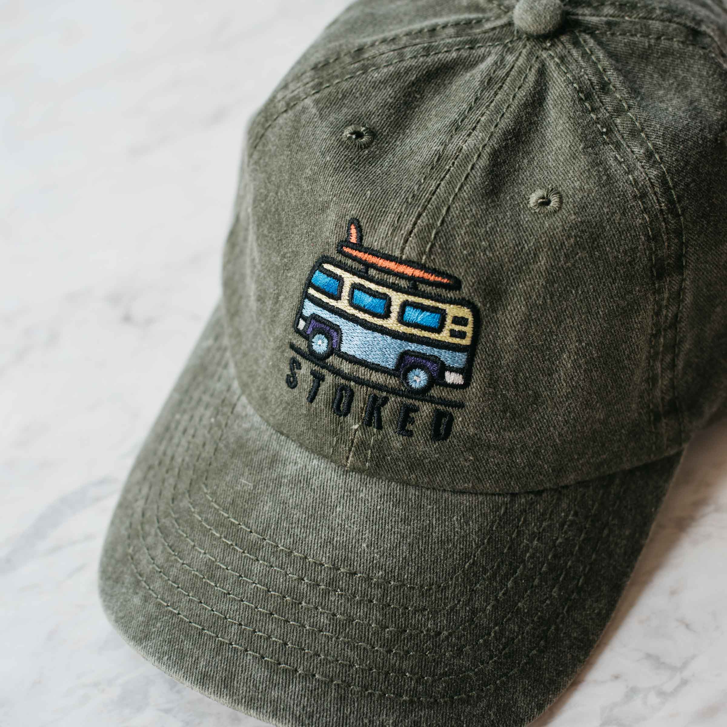 The Olive Kombi Cap - Stokedthebrand. Lifestyle products for outdoor adventures. Made in South Africa