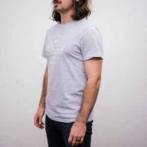Mens Classic Grey T-Shirt - Stokedthebrand. Lifestyle products for outdoor adventures. Made in South Africa