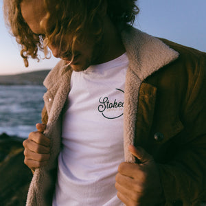 The Original White T-Shirt - Stokedthebrand. Lifestyle products for outdoor adventures. Made in South Africa