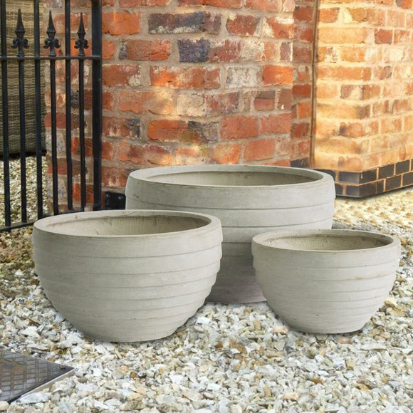 Rockingham Pot - Stone - Set of 3