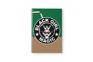 "Black Girl Magic 1-Subject, 8 1/2""X11"", 3/8"" Ruled Notebook (GREEN)"