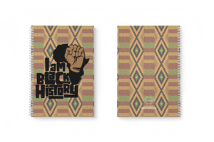 "I Am Black History 1-Subject, 8 1/2""X11"", 3/8"" Ruled Notebook (WITH/WITHOUT NAIL POLISH)"