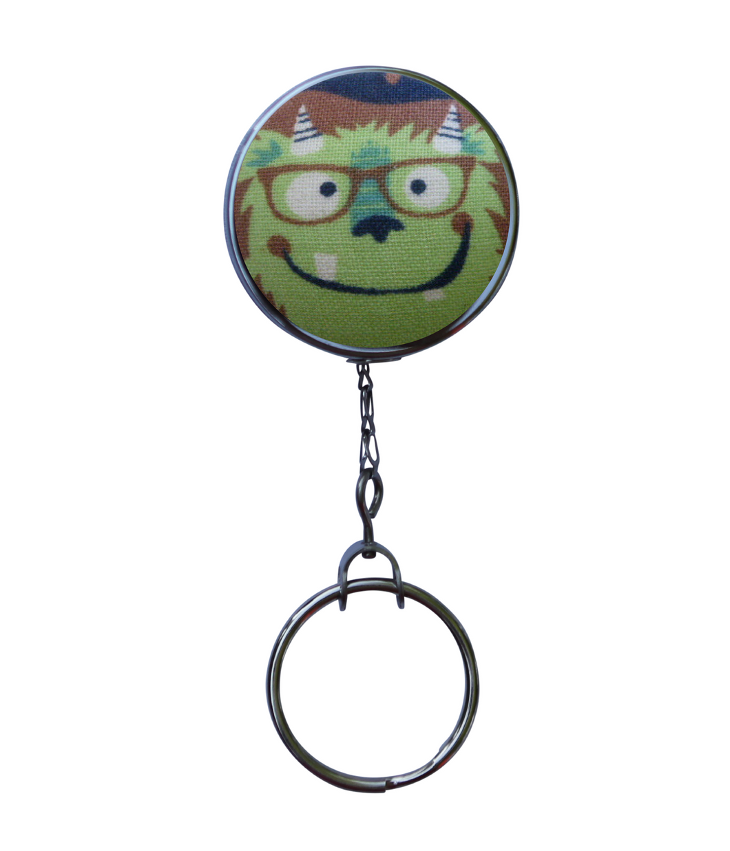 Retractable ID Badge Reel - Monster With Glasses