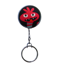 Retractable ID Badge Reel - Red Vampire Monster