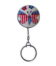 Retractable ID Badge Reel - American Butterfly