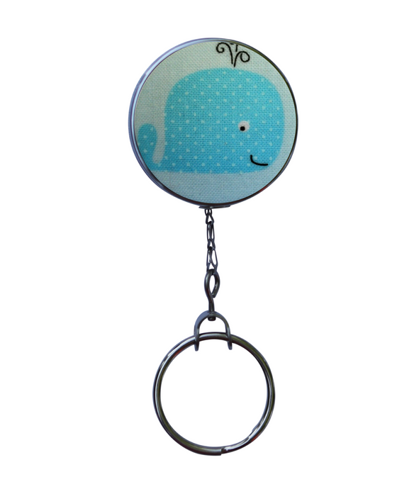 Retractable ID Badge Reel - Blue Whale