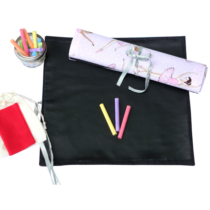 Ballerina Travel Chalkboard Mat for Creative Kids
