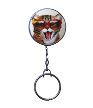 Retractable ID Badge Reel - Happy Cat