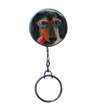 Funny Dachshund Dog Print Retractable ID Badge Reel