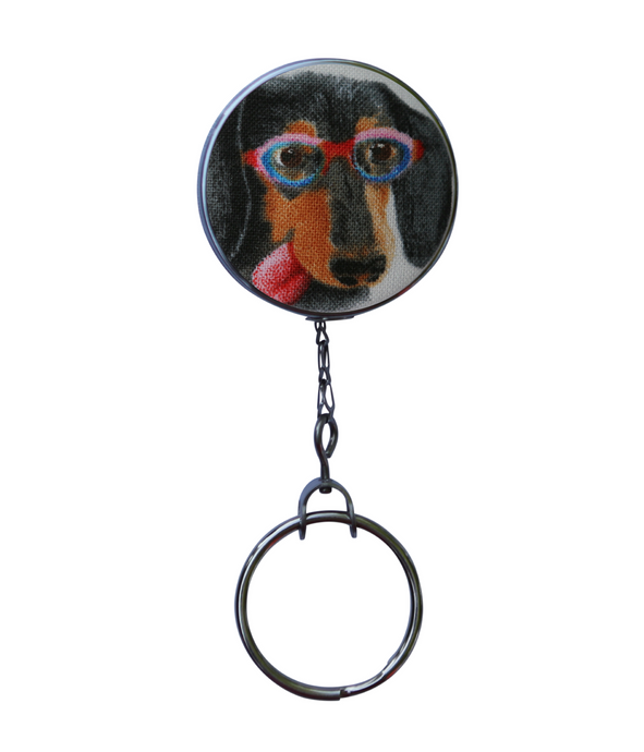 Retractable ID Badge Reel - Dachshund Dog