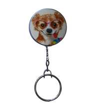 Funny Chihuahua Dog Retractable ID Badge Reel
